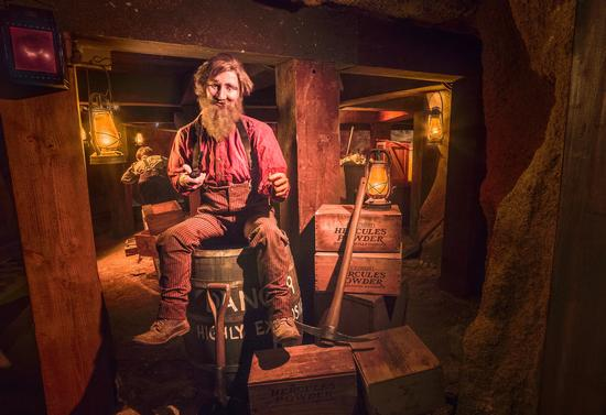 Inside Knott's Calico Mine Ride