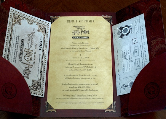 Harry Potter Diagon Alley invitation