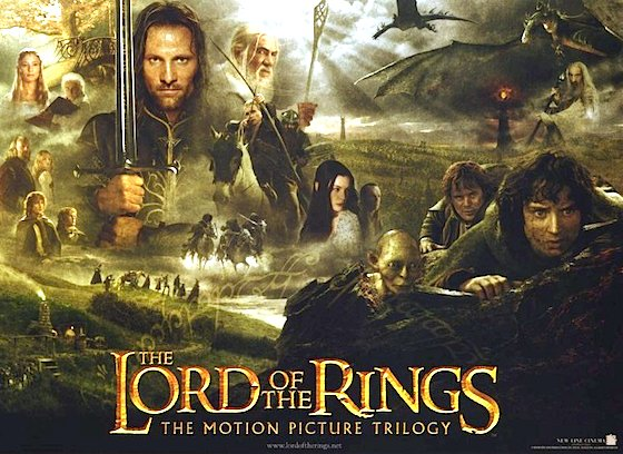The Lord of the Rings film trilogy promotional poster