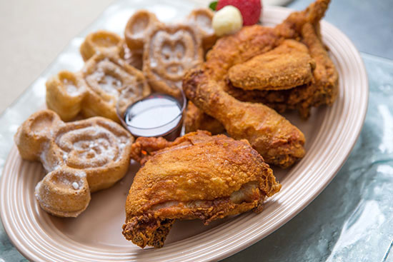 Chicken and Mickey Waffles