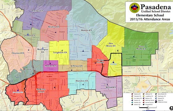 PUSD elementary school attendance zones