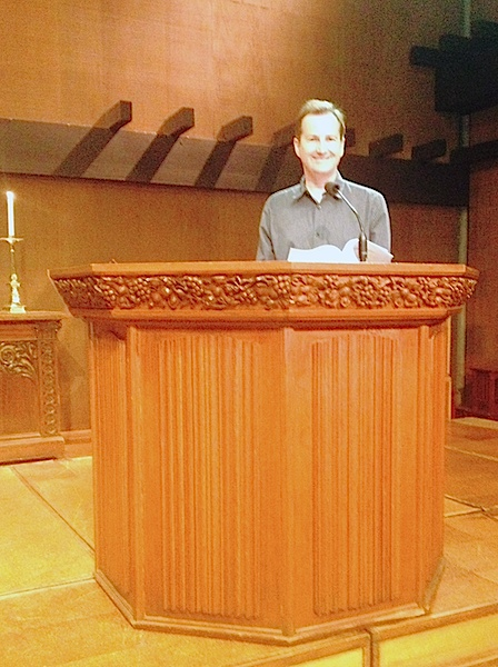 Robert in the pulpit