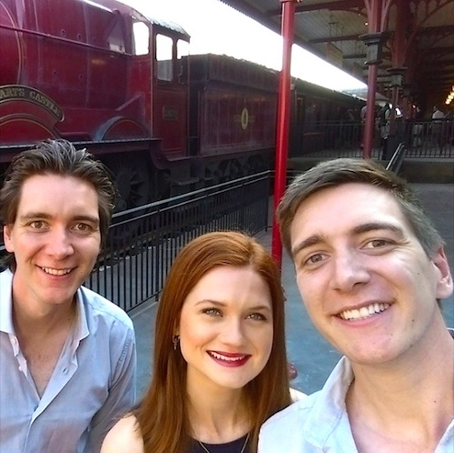 At the Hogsmeade Hogwarts Express station